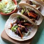 Sweet Korean BBQ Beef Tacos | www.diethood.com