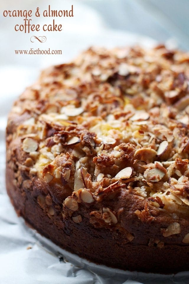 Orange and Almond Coffee Cake | www.diethood.com