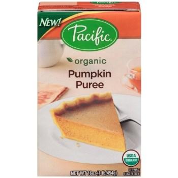 Image of Pacific brand Pumpkin Puree in a Tetra Pak box