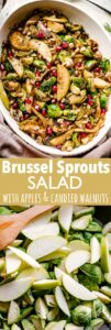 brussel sprouts salad pin image