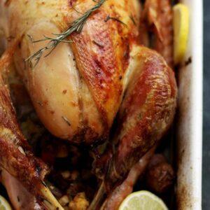 Rosemary Lemon Roasted Turkey | www.diethood.com