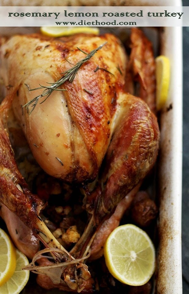Rosemary Lemon Roasted Turkey Recipe Diethood