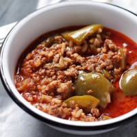Stuffed Pepper Soup | www.diethood.com
