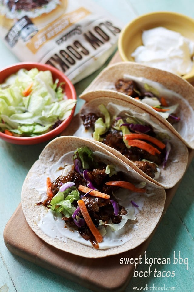 www.diethood.com | A delicious Taco Dinner made with a sweet and spicy ...