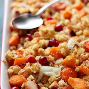 Sweet Potato and Cranberry Stuffing + Sweet Sunshine Giveaway