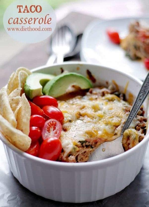 Taco Casserole | www.diethood.com