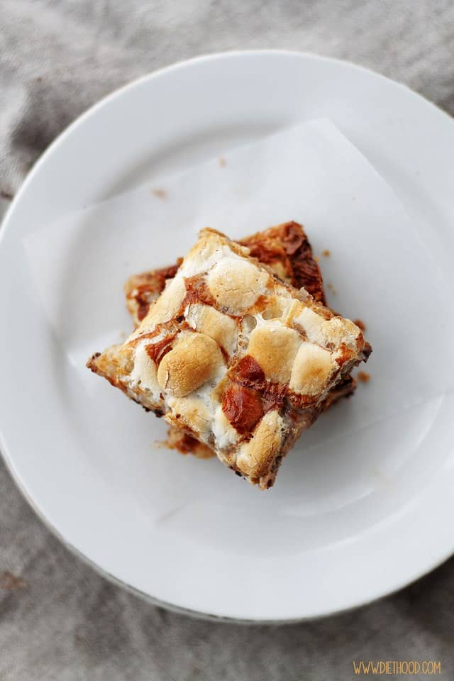 7 Layer Magic Bars Diethood Easy Dessert Recipe | Peanut Butter Marshmallow Magic Bars #KraftEssentials #cbias