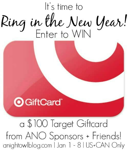 ANO New Year Sponsor Giveaway HAPPY NEW YEAR! | $100 Target Gift Card Giveaway + Black Magic Chocolate Cake