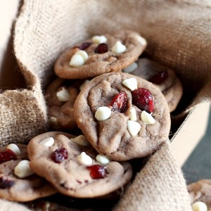 Cranberry White Chocolate Chip Nutella Cookies