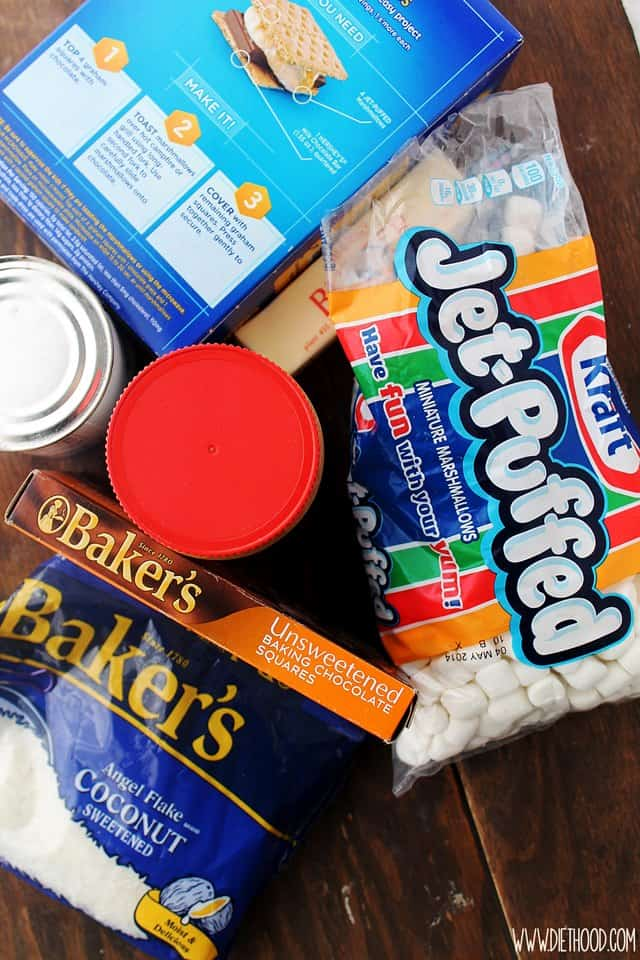 Kraft Diethood Easy Dessert Recipe | Peanut Butter Marshmallow Magic Bars #KraftEssentials #cbias