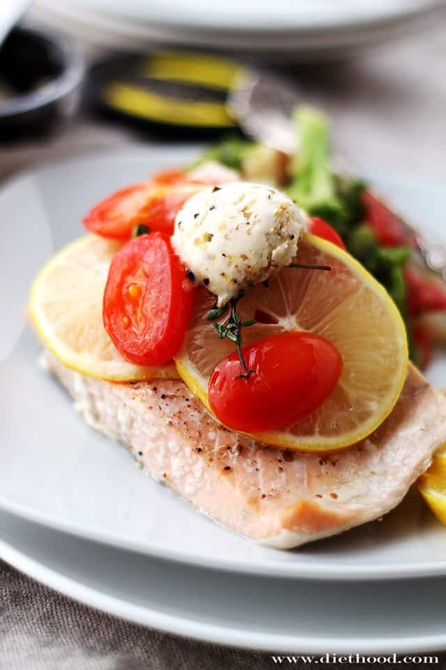 Lemon Pepper Salmon Diethood1 Lemon Pepper Salmon In Foil + Giveaway
