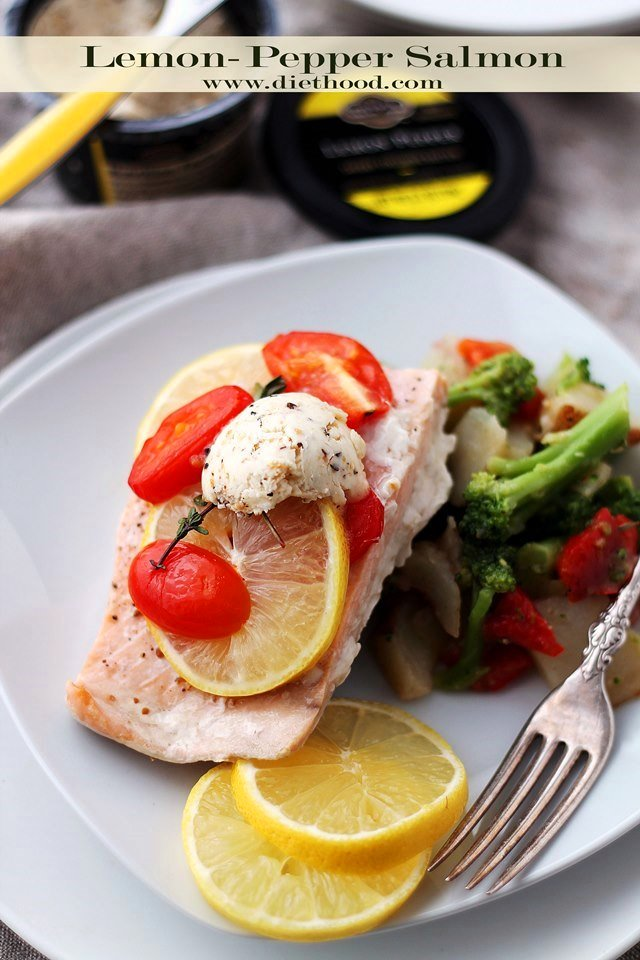 Lemon Pepper Salmon in Foil Diethood2 Lemon Pepper Salmon In Foil + Giveaway
