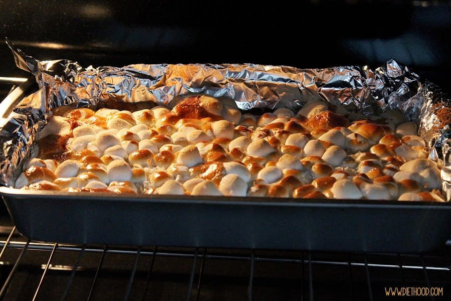 Magic Cookie Bars Diethood Easy Dessert Recipe | Peanut Butter Marshmallow Magic Bars #KraftEssentials #cbias