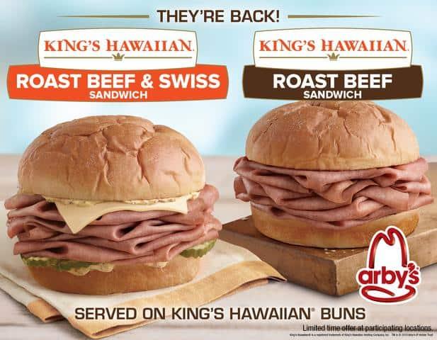 Arby's King's Hawaiian Roast Beef Sandwich advertisement