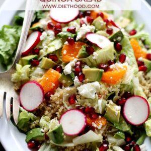 Pomegranate Citrus Quinoa Salad with Cranberry Pomegranate Vinaigrette