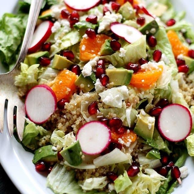 Pomegranate Citrus Quinoa Salad Diethood Recipe Pomegranate Citrus Quinoa Salad with Cranberry Pomegranate Vinaigrette