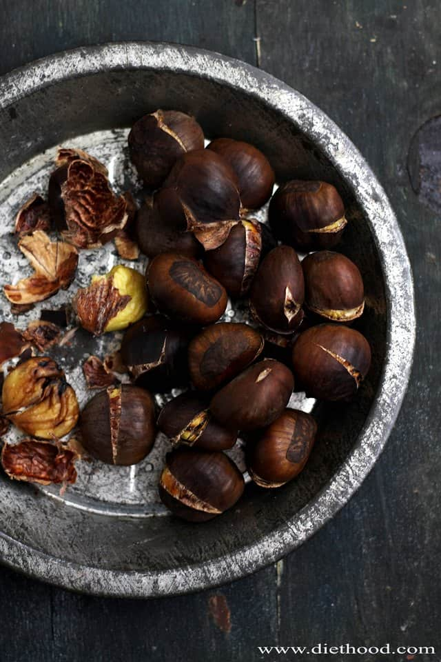 Roasted Chestnuts | www.diethood.com