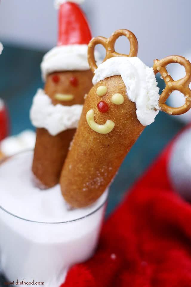 Santa Corn Dogs | www.diethood.com | #getcorny #ad #shop #cbias