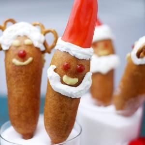 Santa Corn Dogs | www.diethood.com