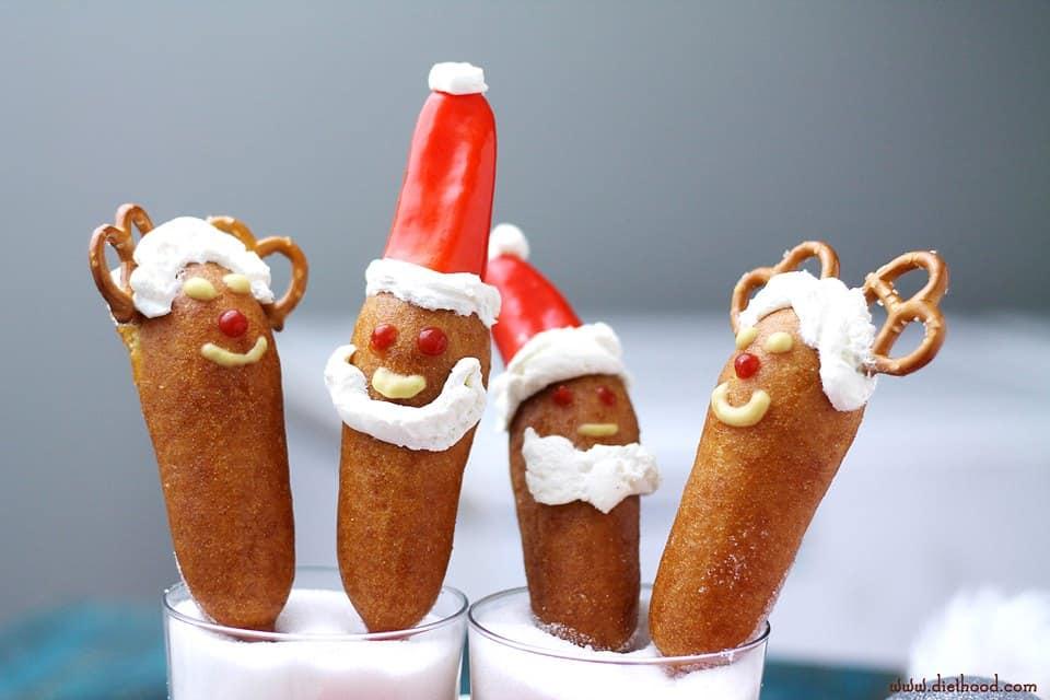 Santa Corn Dogs | www.diethood.com | #getcorny #ad #cbias #shop