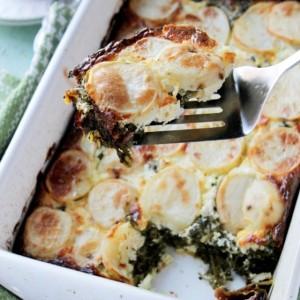 Savory Sundays: Spinach, Feta, and Potato Gratin