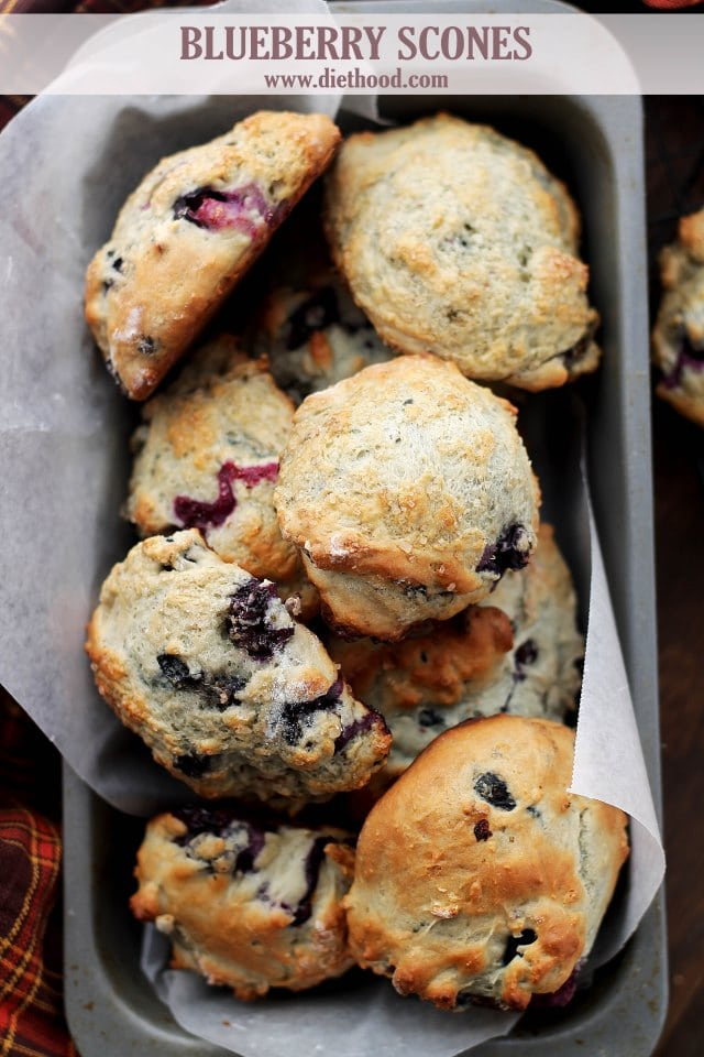 Blueberry Scones Diethood Blueberry Scones + Blueberry Cream Cheese Frosting