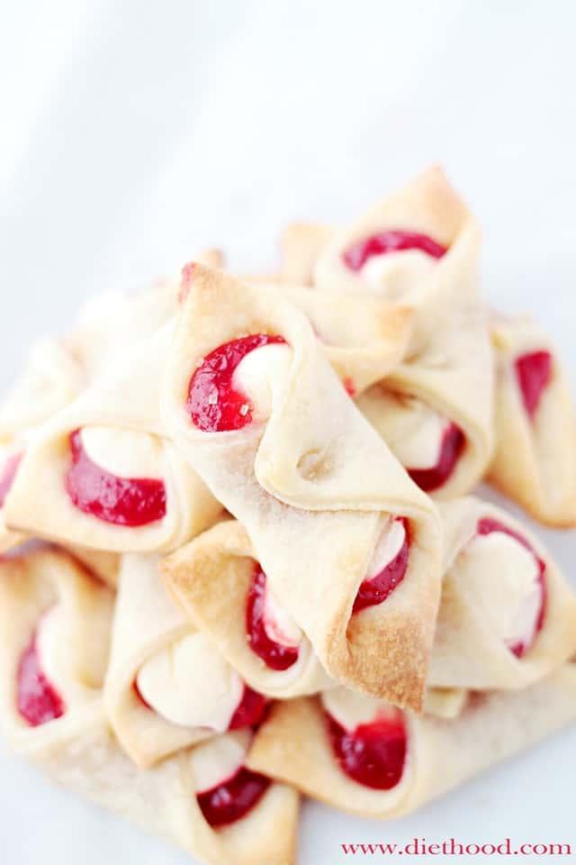 Strawberry Cream Cheese Pastries Recipe Diethood