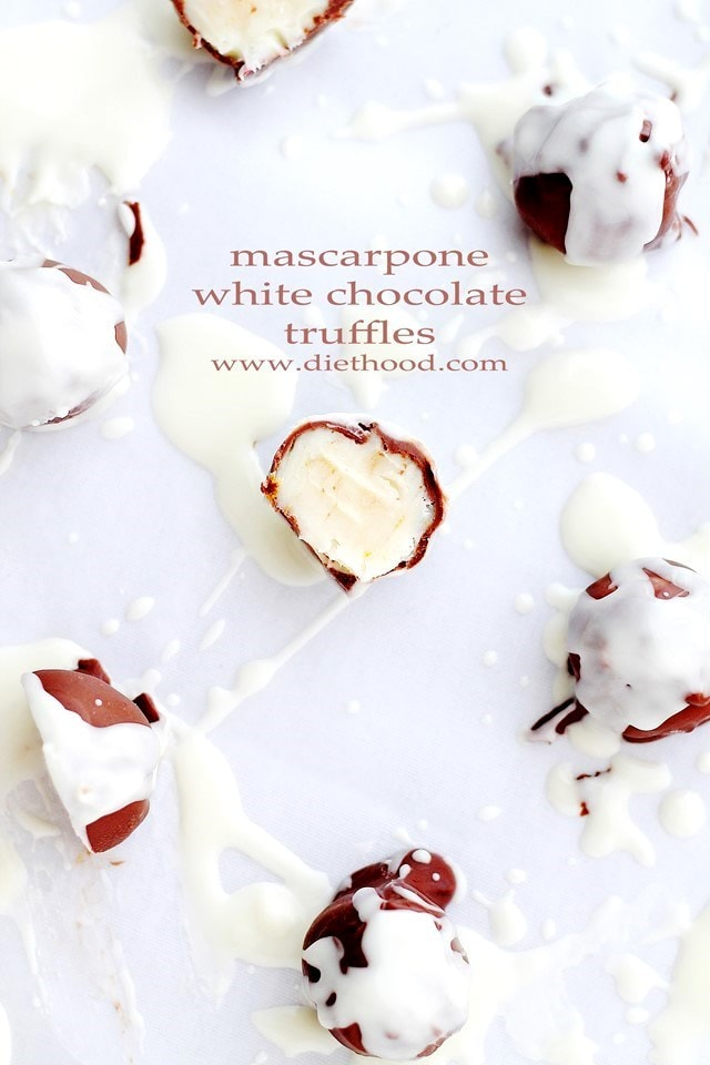 Mascarpone White Chocolate Truffle at Diethood Mascarpone White Chocolate Truffles