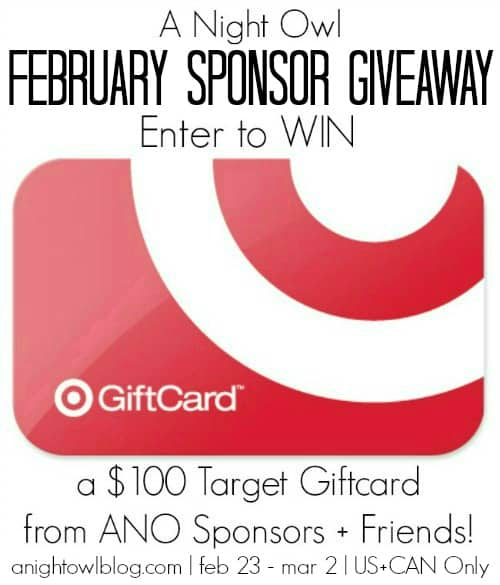 ANO February Sponsor Giveaway Parmesan Garlic Roasted Potatoes + $100 Target Gift Card Giveaway!