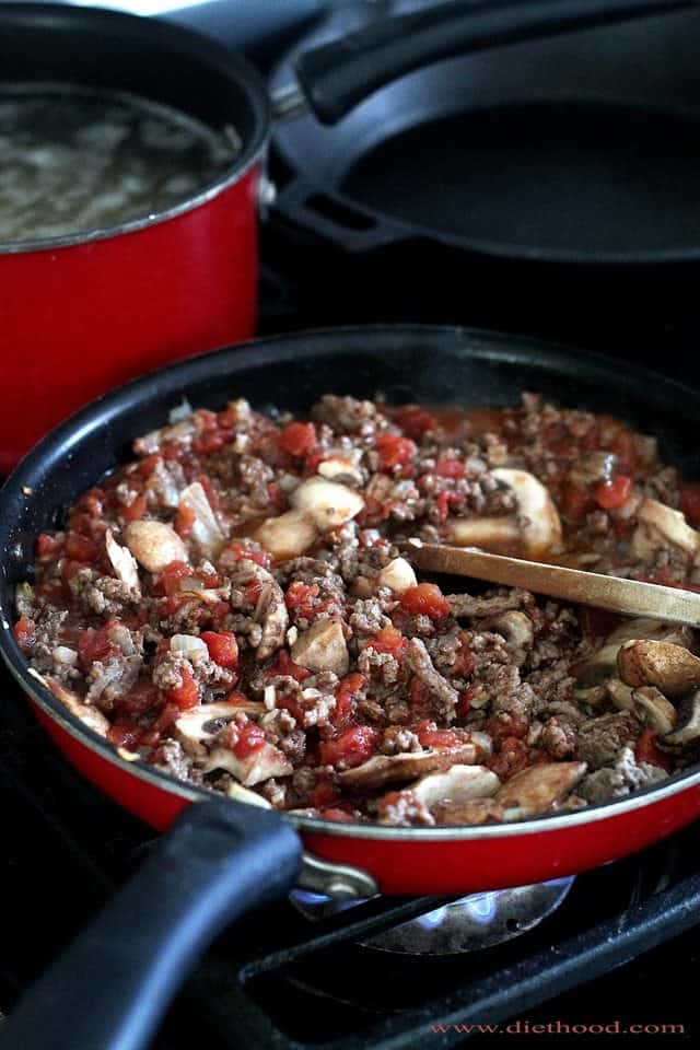 Beef Mixture Diethood Spaghetti Beef Casserole Recipe
