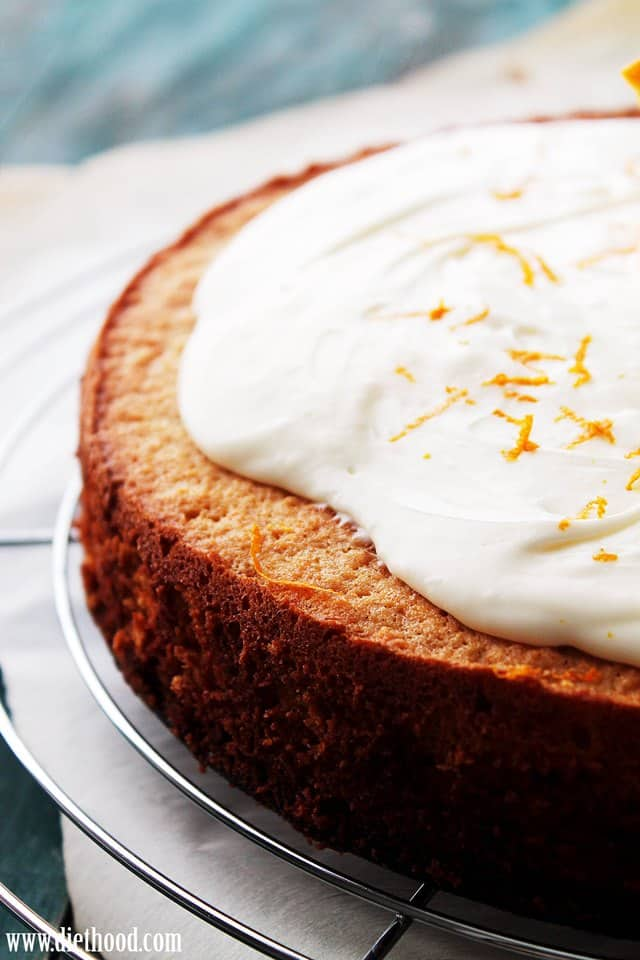Carrot Cake Mascarpone Frosting Diethood Flourless Carrot Cake with Mascarpone Frosting