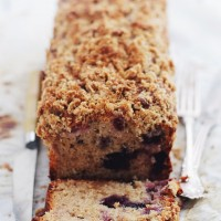 Very Berry Streusel Coffee Cake   www.diethood.com   Tender and moist coffee cake made with yogurt, strawberries, blueberries, and a crumbly streusel topping.   #cake #berries #breakfast