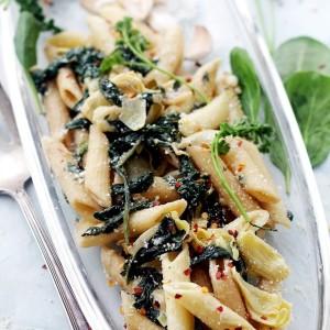 Creamy Spinach and Artichoke Penne Pasta