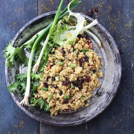 Curried Fried Quinoa Light Diethood Recipe Curried Fried Quinoa