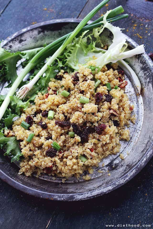 Curried Quinoa Diethood Curried Fried Quinoa