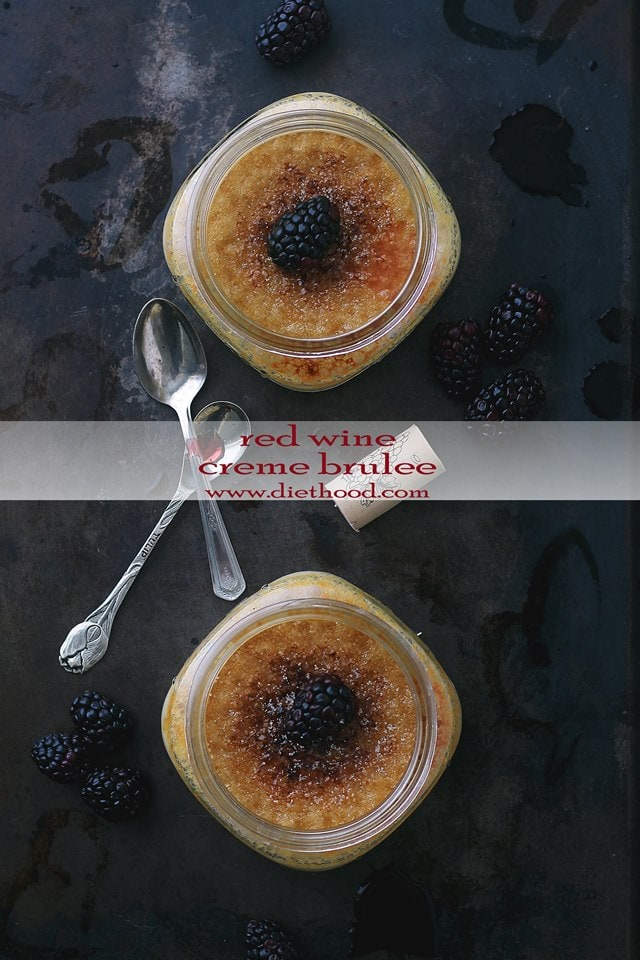 Red Wine Creme Brulee Diethood Red Wine Creme Brulee + KitchenAid Stand Mixer Giveaway!