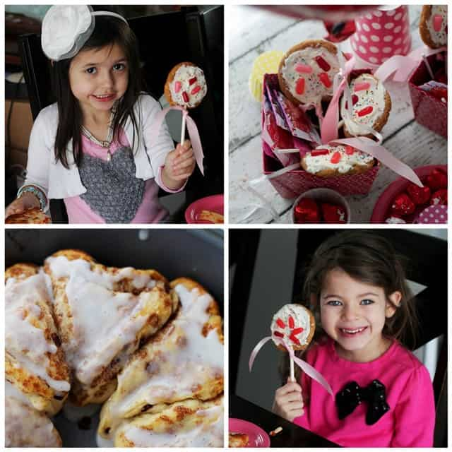 Heart-Shaped Cinnamon Rolls and Valentine Cookie Pops | www.diethood.com | #valentinesday #valentinesdayrecipes #pillsbury