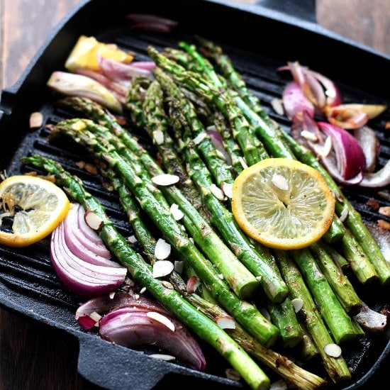 Asparagus Fried Diethood Recipe Pan Roasted Asparagus Almondine