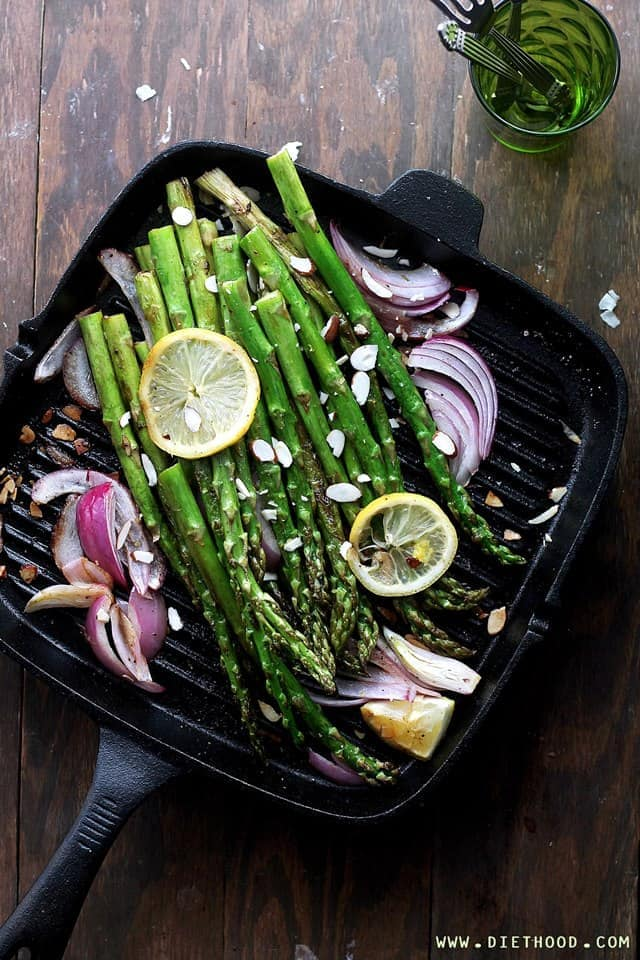 Asparagus Pan Fried Diethood Pan Roasted Asparagus Almondine