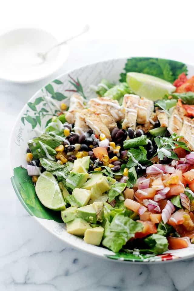 Tex-Mex Margarita Chicken Salad | www.diethood.com | #recipe #chicken #salad