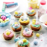 Easter Cookie Cups with Coconut Buttercream Frosting | www.diethood.com | #recipe #easter #buttercreamfrosting