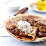 Bananas Foster Crepes | www.diethood.com | Flambéed, sweet banana sauce tucked inside delicious and warm crepes. | #recipe #crepes #bananasfoster