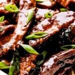 pf chang's mongolian beef pinterest image