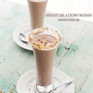 Chocolate Cake and Coconut Milkshake www.diethood.com