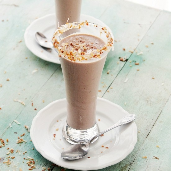 Chocolate Milkshake Recipe www.diethood.com  Boozy Hazelnut Chocolate Souffle