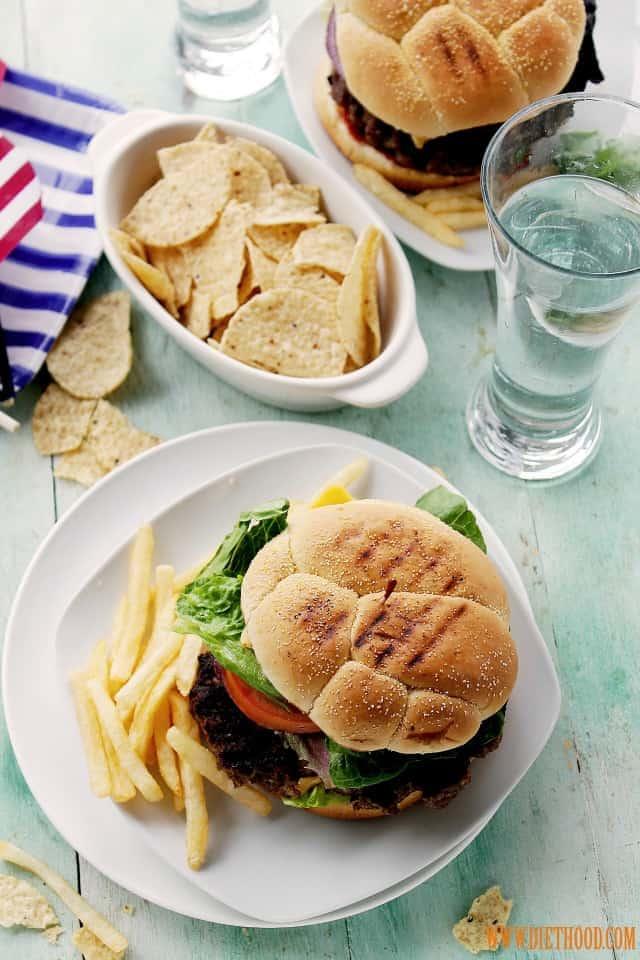 Classic American Cheeseburger at www.diethood.com
