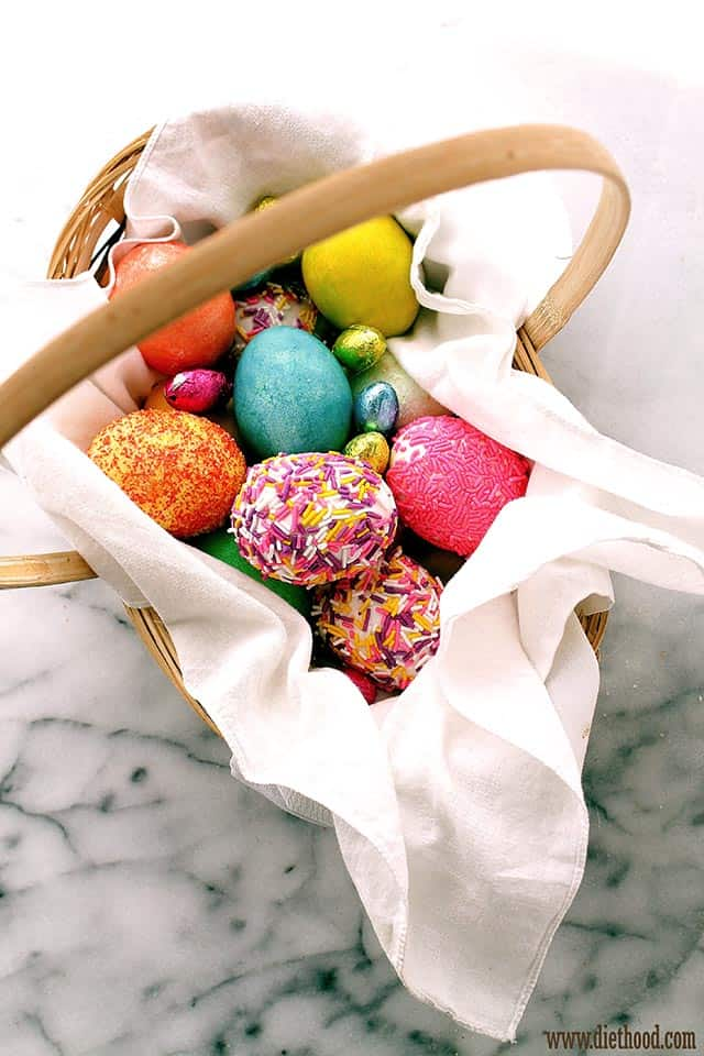 Egg Basket Diethood Sprinkles Easter Eggs