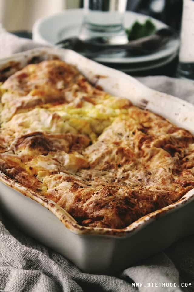 Egg Feta Casserole | www.diethood.com