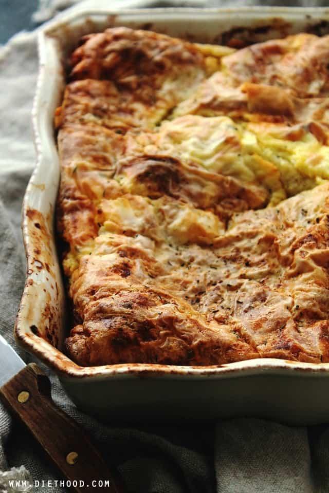 Egg Feta Cheese Casserole | www.diethood.com