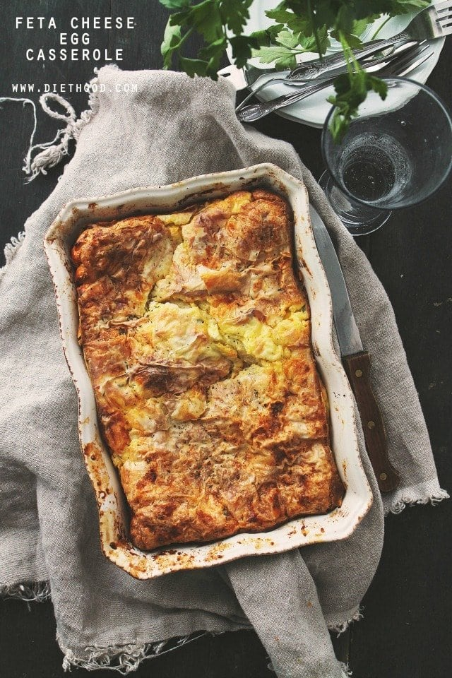 Feta Cheese Egg Casserole Recipe | Diethood